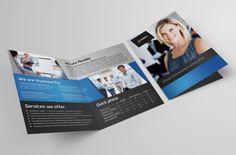Bi-fold brochure template #inspiration | via www.behance.net/gallery/Bi-Fold-Brochure-2/10623637