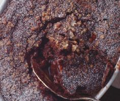 When you have a craving for a comforting dessert, try this pudding cake, which forms its own rich-tasting sauce as it bakes. The coffee flavor is subtle, but it adds complex depth to the diabetic cake's flavor.