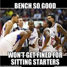 LA Clippers Bench 2012-2013