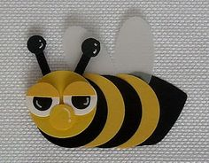 bumble bee punch art - bjl party favors, card idea, bumbl beeb, bee punch, craft idea, punch art, bubbl bee, bumble bees, kid card