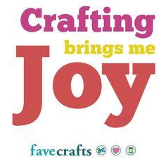 Crafting brings me joy <3