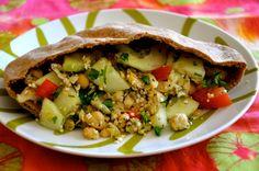 Hummus & Hemp Seed Pita Pockets Recipe #hemp #healthy #delicious