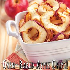 Oven Baked Apple Chips...a wonderful fall treat! Go to: www.bigy.com/recipes/4006   #bigyfoods #bigy