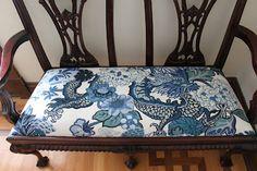 Chiang Mai Dragon in China Blue, 173272. http://www.fschumacher.com/search/ProductDetail.aspx?sku=173272 #Schumacher