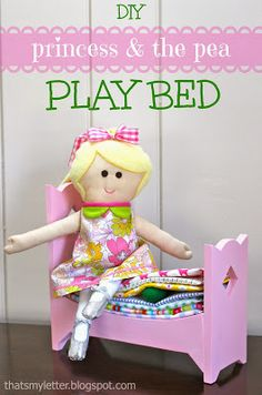 """That's My Letter: """"P"""" is for Princess & the Pea Play Bed, diy princess & the pea bed with free build plans from Ana White"""