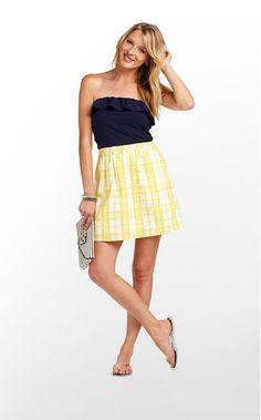 esmeralda dress in starfruit yellow sucker for plaid $164 (w/o 5/27/12) #lillypulitzer #fashion #style