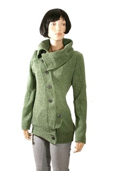GREEN jacket SPRING jacket buttoned tailored by goodtimesbarcelona, $69.95