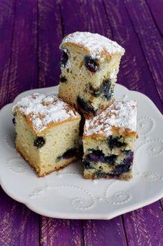 Blueberry Cake Squares