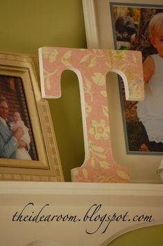 DIY monogrammed letters