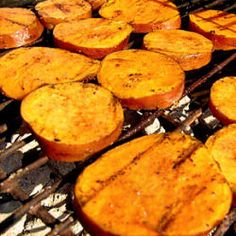 Grilled Cinnamon Sweet Potatoes Recipe. For the Grill: http://myhoneysplace.com/for-the-grill-updated-often/