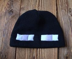 Make a Minecraft Enderman hat with a tutorial and printable pattern from pie popper on Instructables.