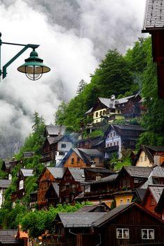 Mountain Village, Hallstatt, Austria.