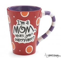 Hand painted ceramic decal message mug , Mother's Day Gifts, Gift ideas, Tableware, Home Decor.