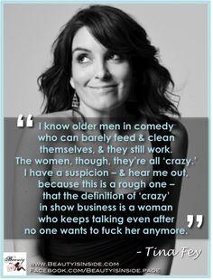 Tina Fey on women's expiration dates...
