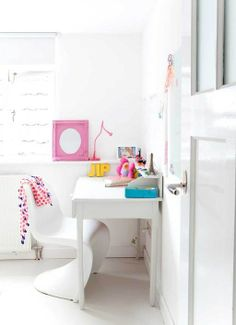 cute little white corner // sewing spaces