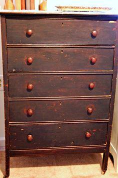 antique wooden dresser!