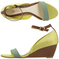 not a big wedge/heel fan, but these are super cute.... love the color combos... and they are only $39 at payless!