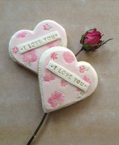'I love you' heart cookies by Nila Holden
