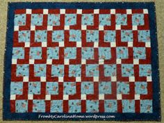 Americana Disappearing Nine Patch Quilt | Free Quilt Tutorial | FaveQuilts.com