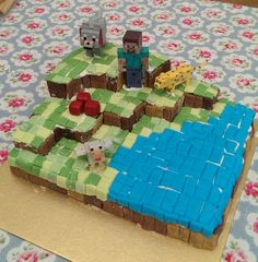 Okay so its not the best Minecraft cake that Pintrest has to offer. But as a homemade cake, i think it turned out alright and it passed the approval of my Minecraft obsessed nephew.