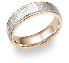 ring appl, 14k rose, gold weddings, 14k white, band ring, hammer metal, hammer white, white gold, gold hammer
