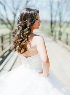loose waves and tulle skirt, photo by Adam Barnes http://ruffledblog.com/ralph-lauren-inspired-shoot #weddinghair #bridal