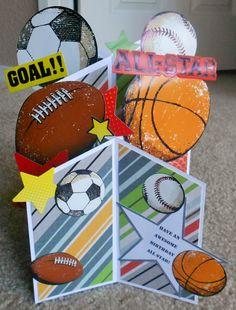 Handmade Sports cascade card