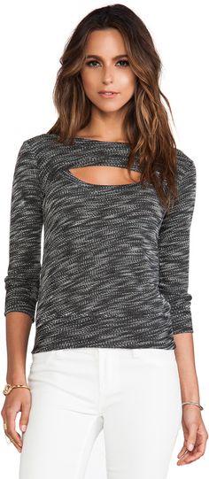 MONROW Luxe French Terry Open Sweatshirt
