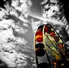 carnival, colors, morning coffee, amusement parks, ferri wheel