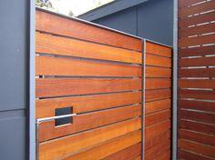 Modern wood gate