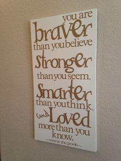 Winnie the Pooh Wall Quote
