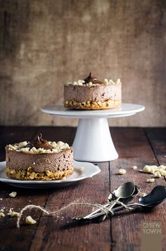 Nutella Cheesecakes with Salted Popcorn Crust Recipe   Chew Town Food Blog