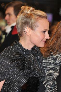 Diane Kruger Bobby Pinned updo