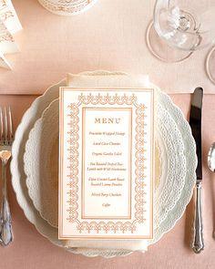 DIY menu card template
