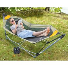 Take this Guide Gear® Portable Folding Hammock with you, no trees needed!
