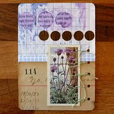 Love the colors in this art journal page by Lusummers on Flickr.