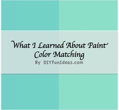 DIY Interior Design All You Need To Know About Paint Matching Tutorial ! This is so Useful For Coastal Colors !