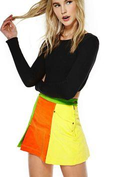 Moschino Color Collide Skirt