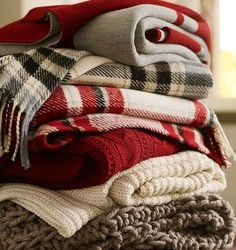 cozy holiday throws.