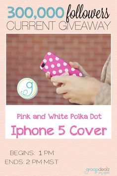 Every phone needs this Iphone 5 pink polka dot cover! Giveaway ends soon! :)