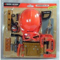 Black & Decker Junior 18 Piece Carpenter Tool Play Set