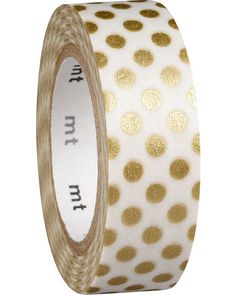 Gold Dot Washi Tape