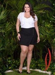 LOJA VIRTUAL PLUS SIZE www.tamanhosespeciais.com.br Shorts Saia Transpassada 48 50 52 54