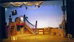 I like the stairs leading up to the deck, and how the deck is looking over the whole set. It creates another stage.