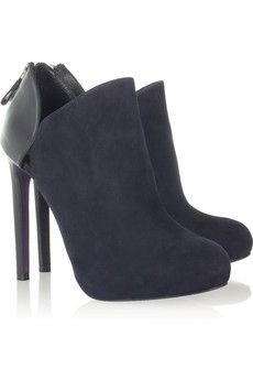 VersusLeather and suede ankle boots