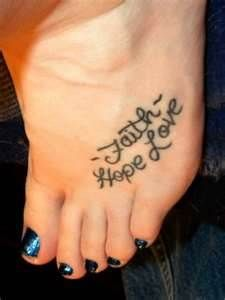 Faith Hope Charity Tattoo Tattoo titled faith hope love