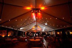 under tent lit up
