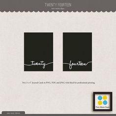 Quality DigiScrap Freebies: Twenty Fourteen journal cards freebie from Two More Days
