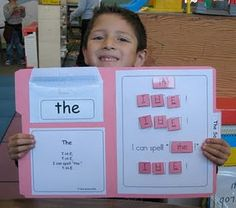 velcro sight words practice folders - Re-pinned by #PediaStaff.  Visit http://ht.ly/63sNt for all our pediatric therapy pins