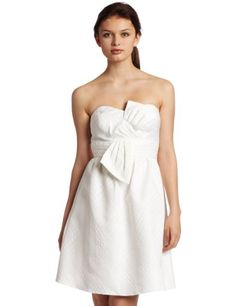 So cute for summer! Maxandcleo Women's Strapless Bow Front Dress.